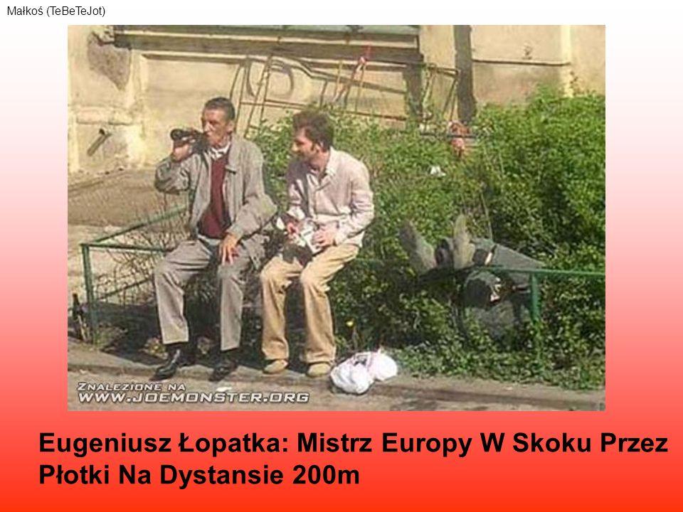 Eugeniusz Łopatka: Mistrz Europy W Skoku Przez Płotki Na Dystansie 200m Małkoś (TeBeTeJot)