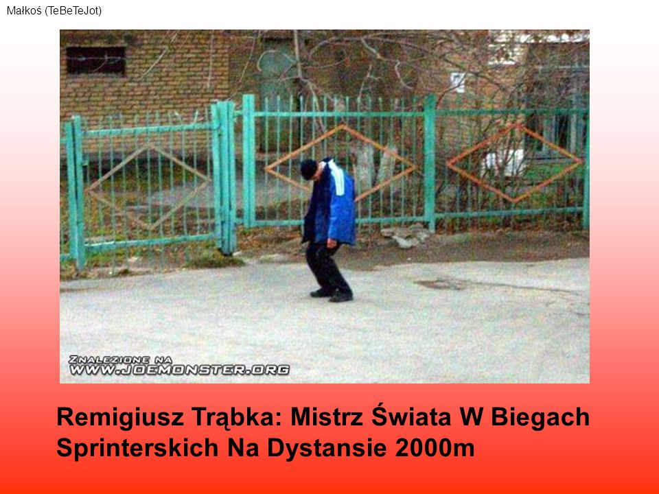 Remigiusz Trąbka: Mistrz Świata W Biegach Sprinterskich Na Dystansie 2000m Małkoś (TeBeTeJot)