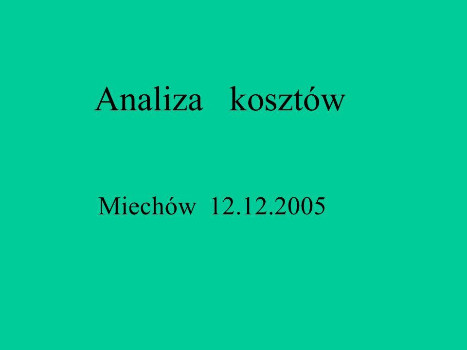 Analiza kosztów Miechów 12.12.2005