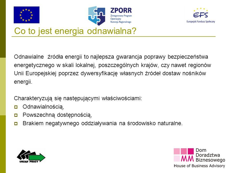 5 Co to jest energia odnawialna? Odnawialne źródła energii to najlepsza gwarancja poprawy bezpieczeństwa energetycznego w skali lokalnej, poszczególny