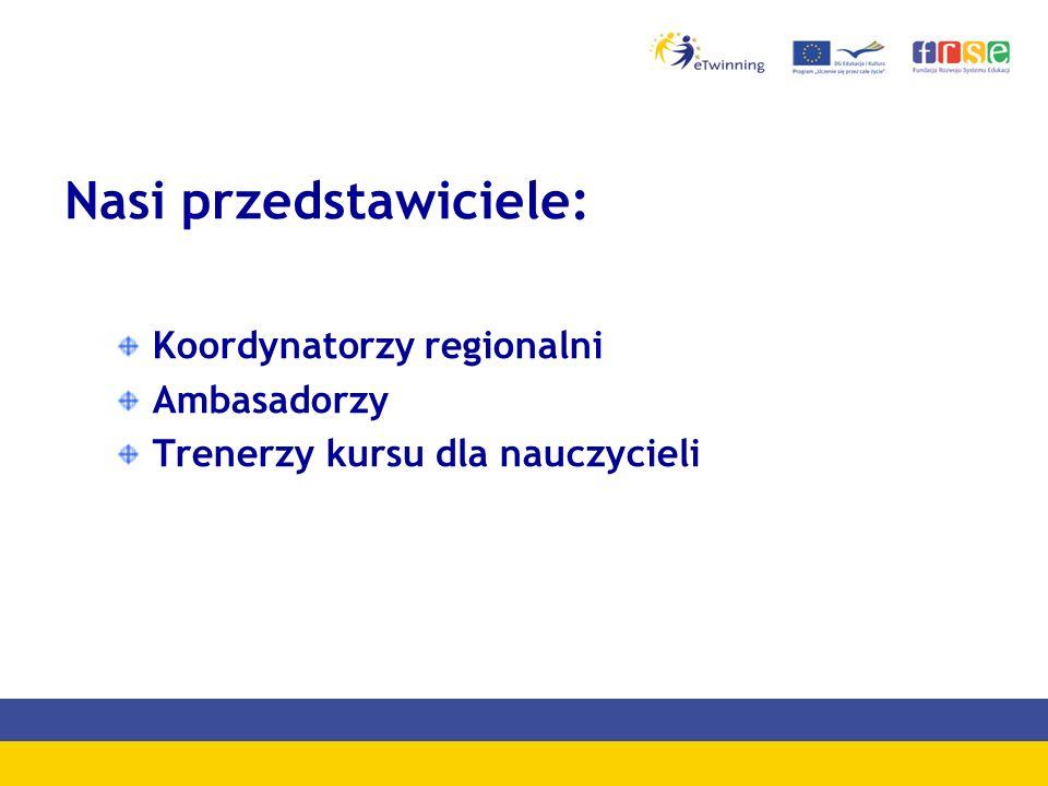 Nasi przedstawiciele: Koordynatorzy regionalni Ambasadorzy Trenerzy kursu dla nauczycieli