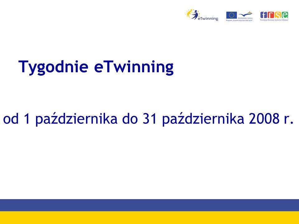 Tygodnie eTwinning od 1 października do 31 października 2008 r.