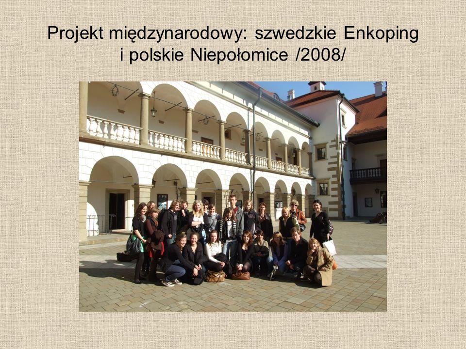 Projekt międzynarodowy: szwedzkie Enkoping i polskie Niepołomice /2008/