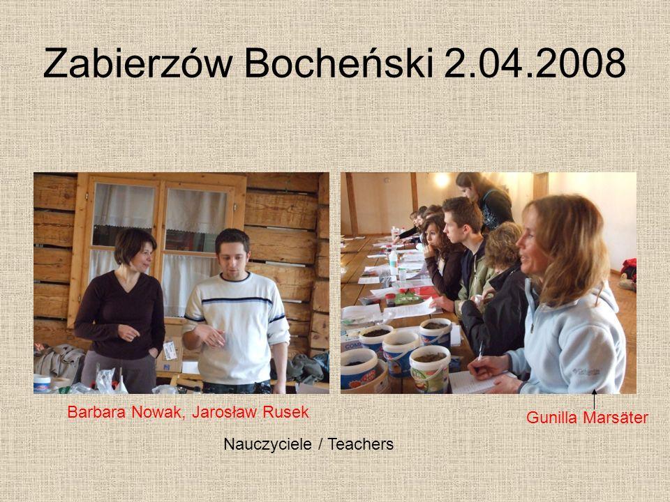 Nauczyciele / Teachers Barbara Nowak, Jarosław Rusek Gunilla Marsäter