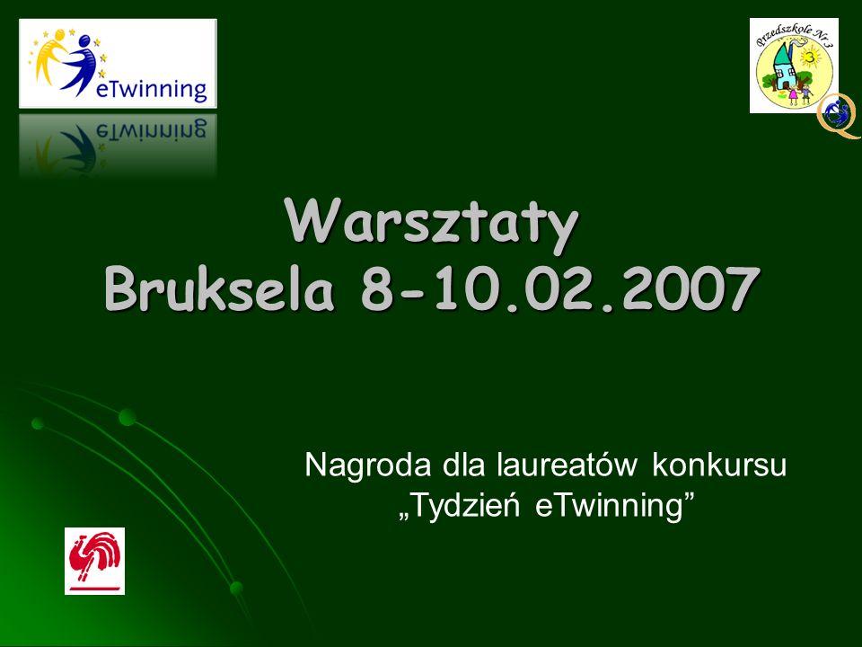 Warsztaty Bruksela 8-10.02.2007 Nagroda dla laureatów konkursu Tydzień eTwinning