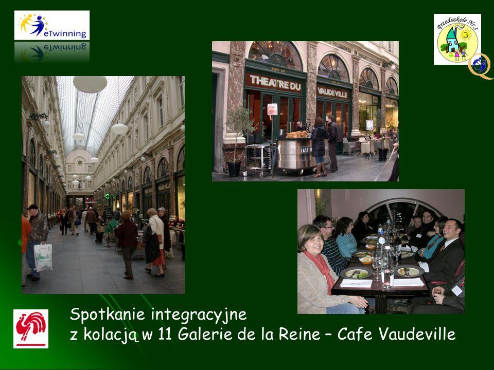 Spotkanie integracyjne z kolacją w 11 Galerie de la Reine – Cafe Vaudeville