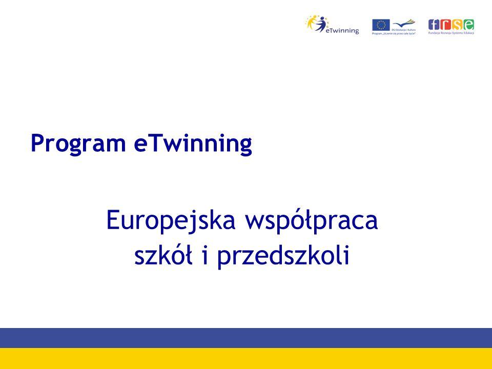 Program eTwinning Europejska współpraca szkół i przedszkoli