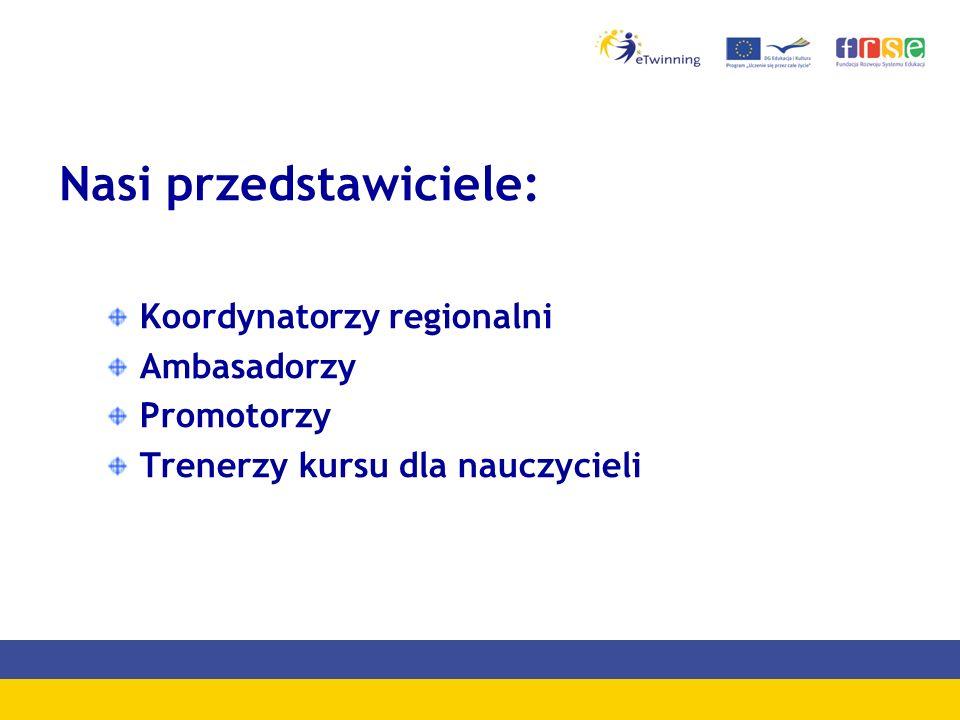 Nasi przedstawiciele: Koordynatorzy regionalni Ambasadorzy Promotorzy Trenerzy kursu dla nauczycieli