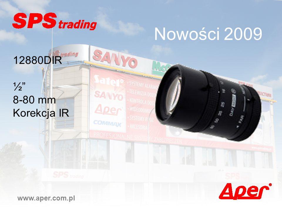 Nowości 2009 www.aper.com.pl 12880DIR ½ 8-80 mm Korekcja IR