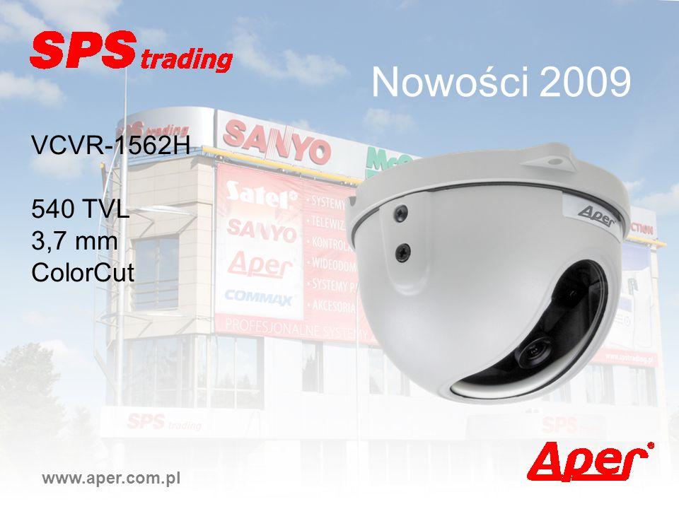 Nowości 2009 www.aper.com.pl VCVR-1562H 540 TVL 3,7 mm ColorCut