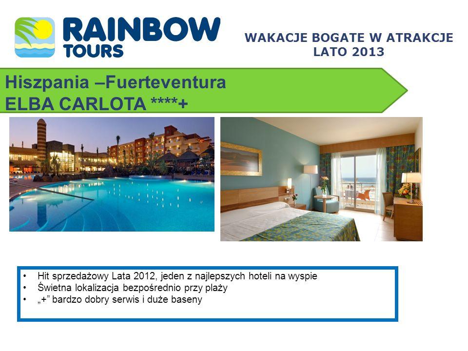 Hiszpania –Fuerteventura ELBA CARLOTA ****+ WAKACJE BOGATE W ATRAKCJE LATO 2013 Hit sprzedażowy Lata 2012, jeden z najlepszych hoteli na wyspie Świetn