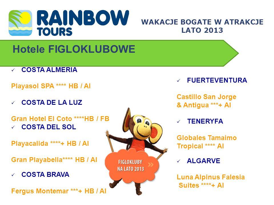 Portugalia – Algarve LUNA ALPINUS FALESIA SUITES ****+ Doskonała propozycja dla rodzin z dziećmi – przestronne apartamenty zapewniają komfortowe i wygodne zakwaterowanie Piękna plaża z czerwonymi klifami Animacje w języku polskim Codzienny, bezpłatny transport do dzielnicy Albufeiry Ouara słynącej z wielu lokalnych restauracji, barów i dyskotek WAKACJE BOGATE W ATRAKCJE LATO 2013