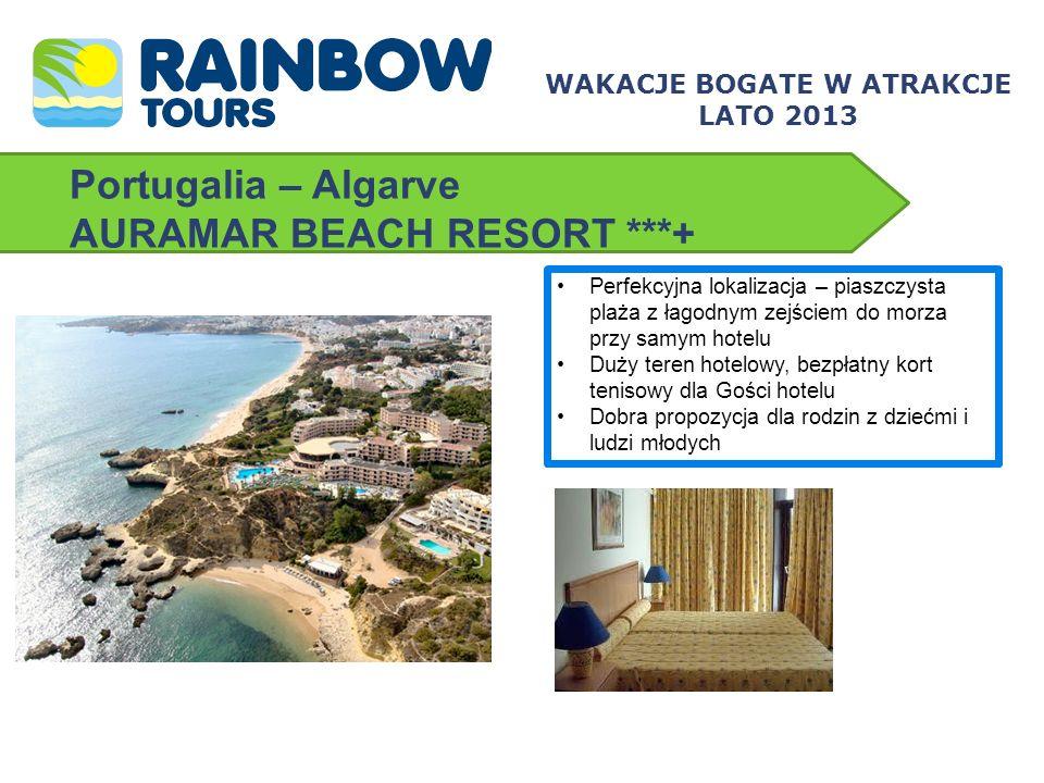 Portugalia – Algarve MONICA ISABEL ***+ Hotel z doskonałą lokalizacją tuż przy szerokiej, piaszczystej plaży w sam raz dla osób lubiących długie spacery brzegiem oceanu Podstawowy standard zakwaterowania rekompensuje bliskość Albufeiry oraz ciekawy program animacyjno-sportowy – to wszystko za przyzwoitą cenę All inclusive w cenie.