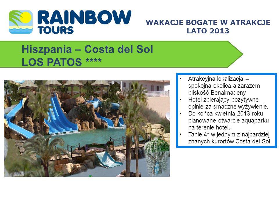 Hiszpania – Costa del Sol H10 ANDALUCIA PLAZA **** Hotel znanej i cenionej sieci H10 Hotel dla osób powyżej 18 lat Położony w jednym z najbardziej luksusowych i prestiżowych kurortów Costa del Sol – Puerto Banus Doskonale wyposażone, profesjonalne DeSpacio Spa Centre WAKACJE BOGATE W ATRAKCJE LATO 2013