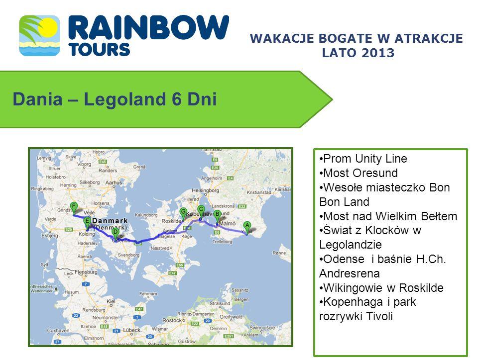 Dania – Legoland 6 Dni Prom Unity Line Most Oresund Wesołe miasteczko Bon Bon Land Most nad Wielkim Bełtem Świat z Klocków w Legolandzie Odense i baśn