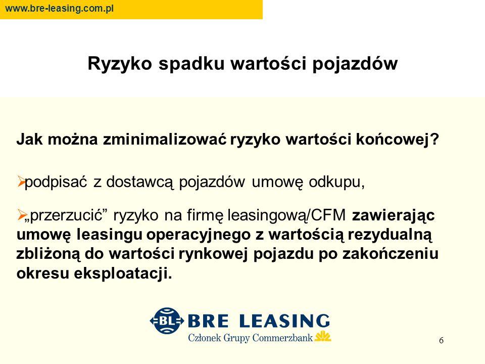 17 FINANSOWANIE [leasing operacyjny] Co można osiągnąć w leasingu operacyjnym.