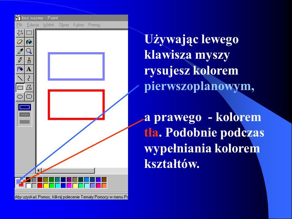 Pole koloru to obszar, który przedstawia dostępne kolory.