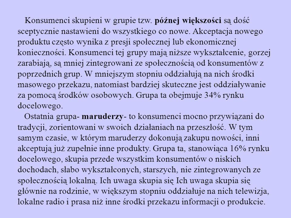 Konsumenci skupieni w grupie tzw.