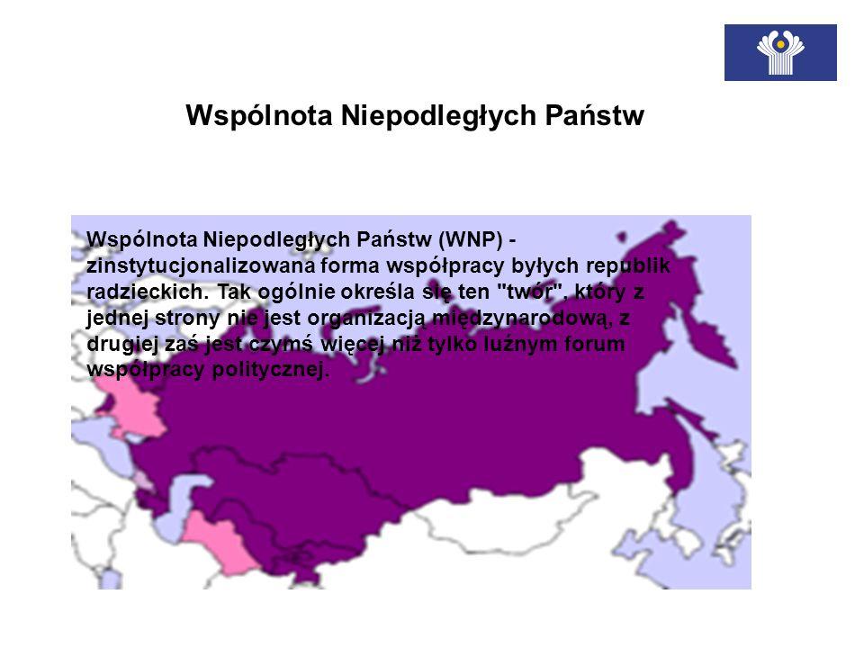 Wspólnota Niepodległych Państw (WNP) - zinstytucjonalizowana forma współpracy byłych republik radzieckich. Tak ogólnie określa się ten