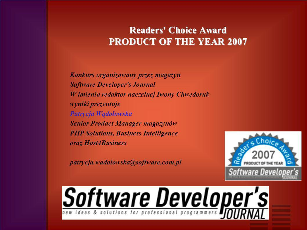 Readers Choice Award PRODUCT OF THE YEAR 2007 ul.
