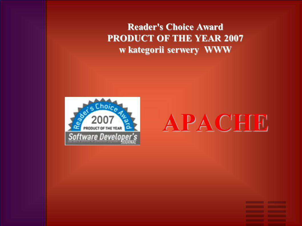 Reader s Choice Award PRODUCT OF THE YEAR 2007 w kategorii serwery WWW APACHE