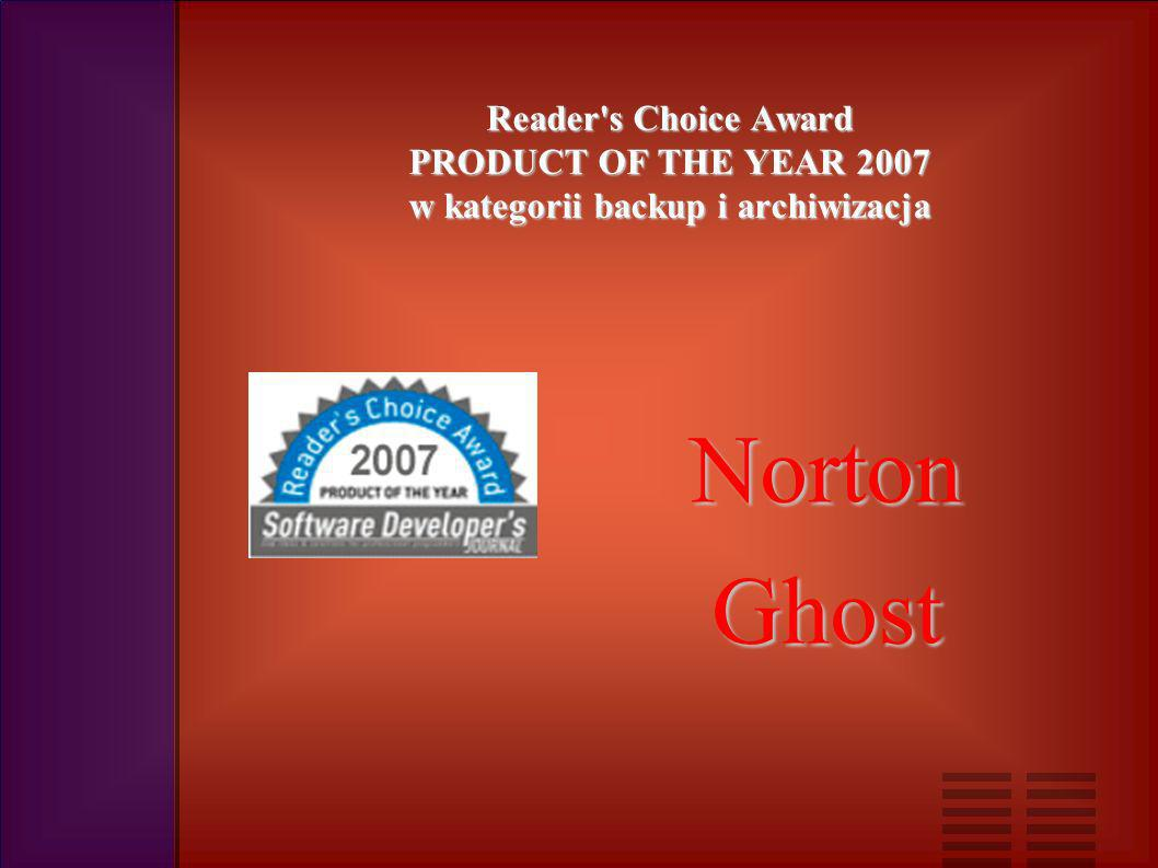 Reader s Choice Award PRODUCT OF THE YEAR 2007 w kategorii systemy operacyjne Windows XP