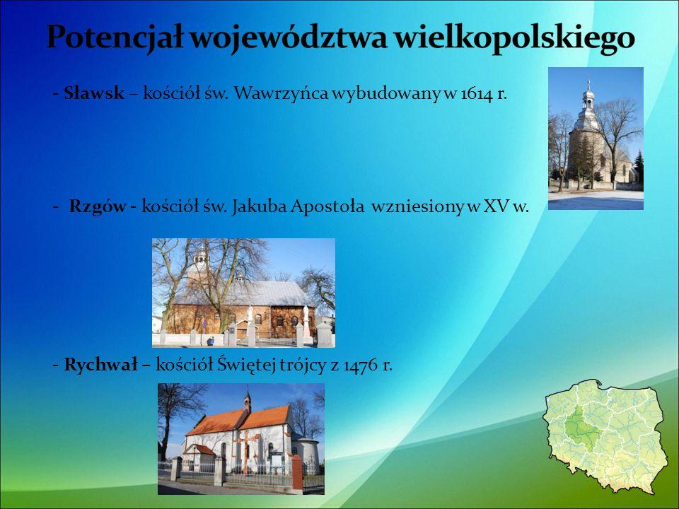- Sławsk – kościół św. Wawrzyńca wybudowany w 1614 r.
