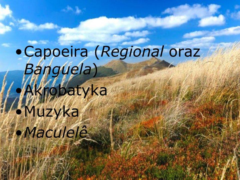 Capoeira (Regional oraz Banguela) Akrobatyka Muzyka Maculelê