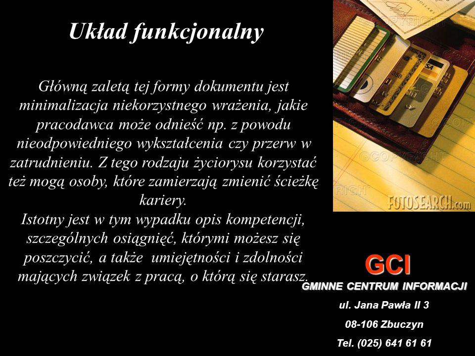 CURRICULUM VITAE W UKŁADZIE FUNKCJONALNYM Kowalska Joanna 31-160 Gdańsk, ul.