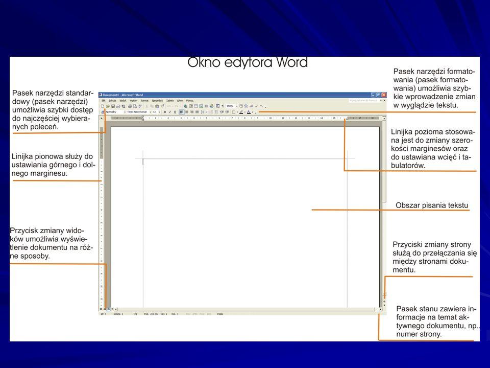 Budowa i układ strony dokumentu Nowoczesne edytory tekstu oferują wiele funkcji, dzięki którym możesz opracować przejrzysty, czytelny i estetyczny dokument oraz nadać mu formę odpowiednią do treści.