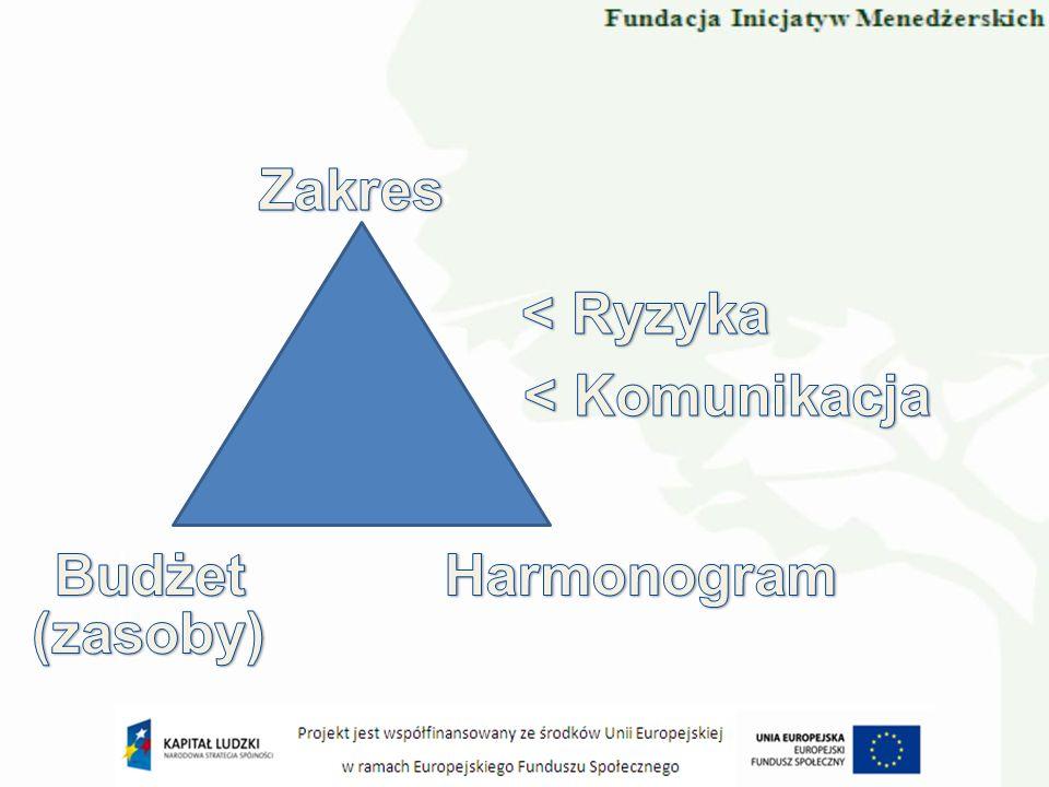 Komponenty Uzasadnienie biznesowe Organizacja Plany Elementy sterowania Zarządzanie ryzykiem Jakość w środowisku projektu Zarządzanie konfiguracją Sterowanie zmianami
