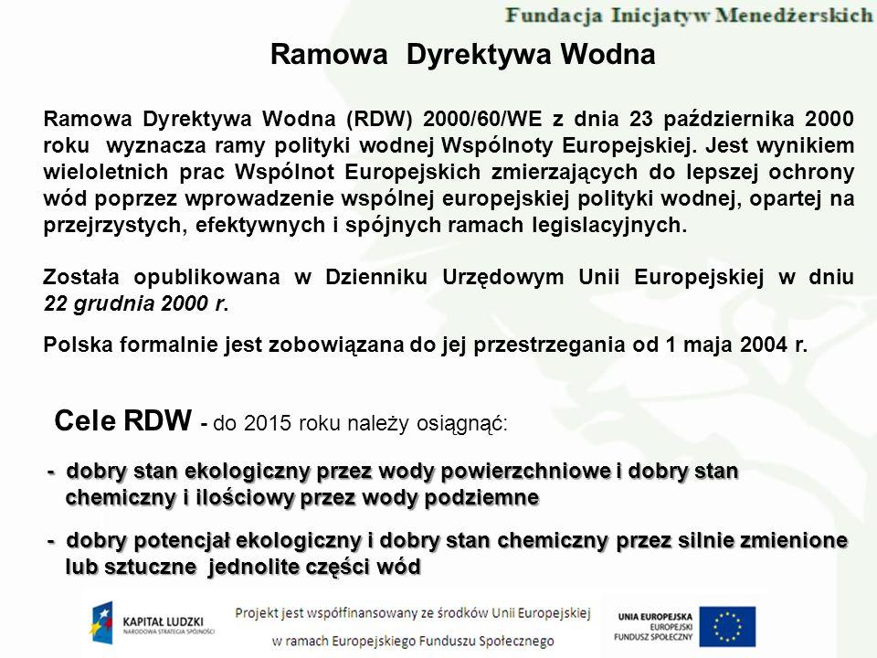 Ramowa Dyrektywa Wodna (RDW) 2000/60/WE z dnia 23 października 2000 roku wyznacza ramy polityki wodnej Wspólnoty Europejskiej. Jest wynikiem wieloletn