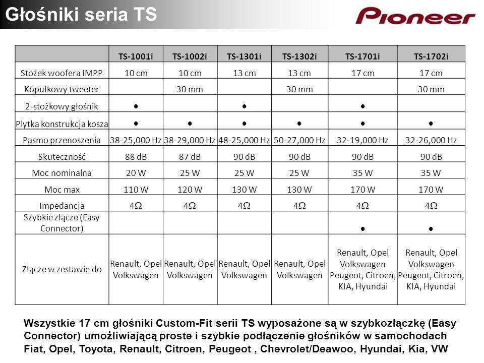 Głośniki seria TS TS-1001iTS-1002iTS-1301iTS-1302iTS-1701iTS-1702i Stożek woofera IMPP10 cm 13 cm 17 cm Kopułkowy tweeter 30 mm 2-stożkowy głośnik Ply