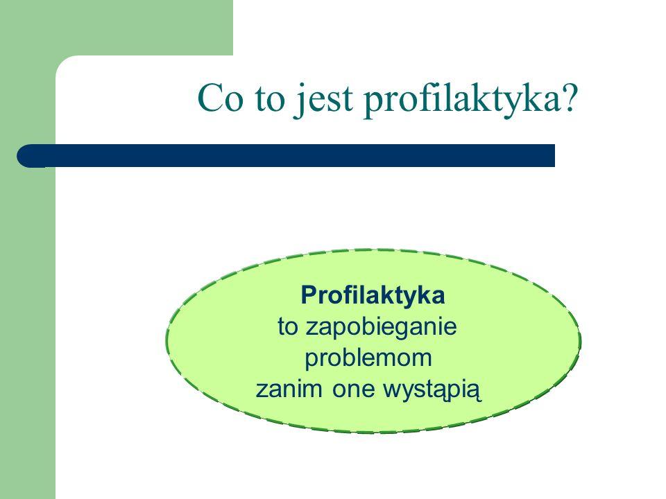 Co to jest profilaktyka? Profilaktyka to zapobieganie problemom zanim one wystąpią
