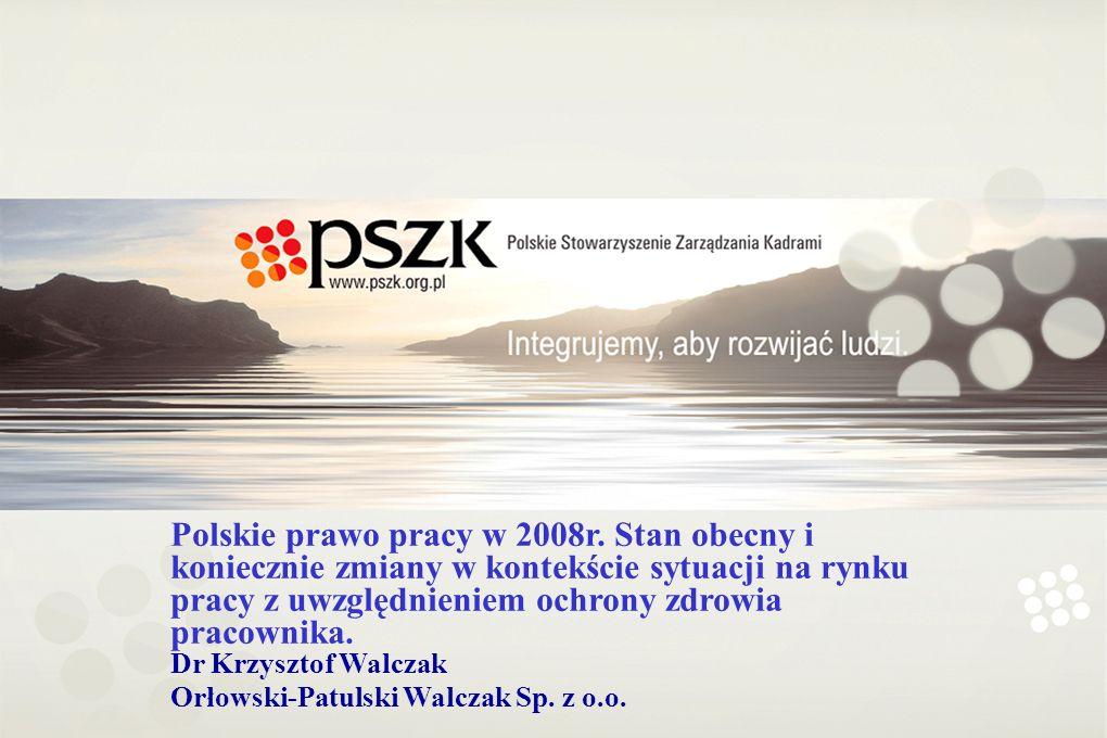 Polskie prawo pracy w 2008r.