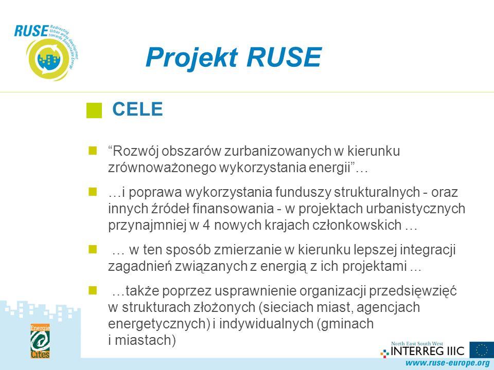 Rozwój obszarów zurbanizowanych w kierunku zrównoważonego wykorzystania energii… …i poprawa wykorzystania funduszy strukturalnych - oraz innych źródeł finansowania - w projektach urbanistycznych przynajmniej w 4 nowych krajach członkowskich … … w ten sposób zmierzanie w kierunku lepszej integracji zagadnień związanych z energią z ich projektami...