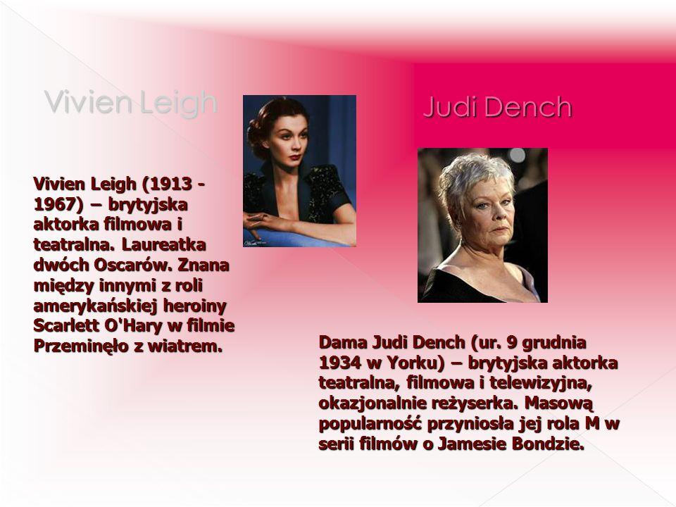 Vivien Leigh (1913 - 1967) brytyjska aktorka filmowa i teatralna. Laureatka dwóch Oscarów. Znana między innymi z roli amerykańskiej heroiny Scarlett O