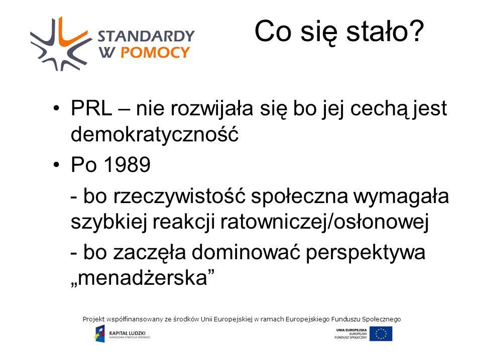 Projekt współfinansowany ze środków Unii Europejskiej w ramach Europejskiego Funduszu Społecznego Co się stało.
