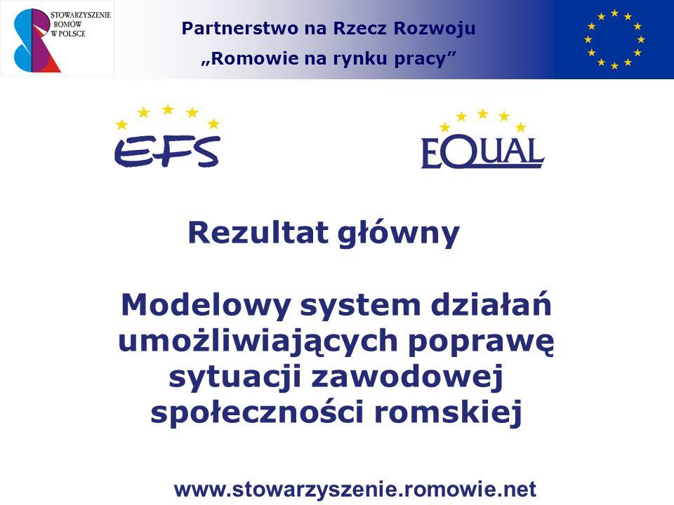 Partnerstwo na Rzecz Rozwoju Romowie na rynku pracy Elementy składowe rezultatu / Produkty pomocnicze Szczegółowa diagnoza sytuacji zawodowej ludności romskiej przedstawiona w postaci raportu w oparciu o wypracowaną w ramach projektu metodologii.