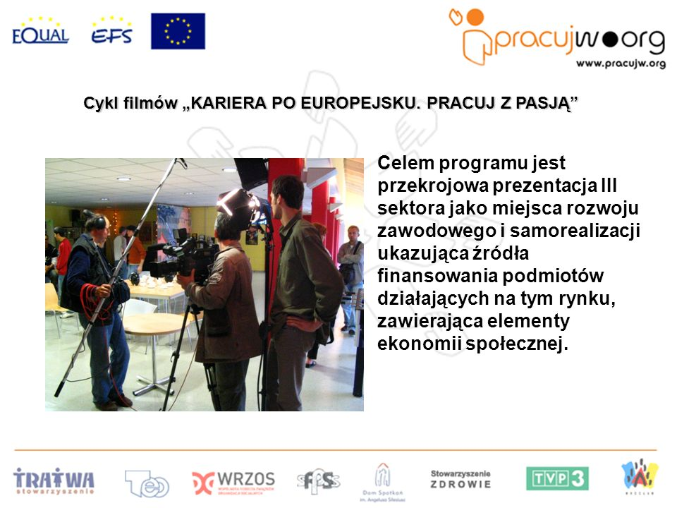 Cykl filmów KARIERA PO EUROPEJSKU.PRACUJ Z PASJĄ Cykl filmów KARIERA PO EUROPEJSKU.