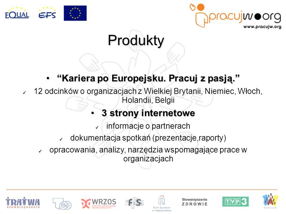 Produkty Kariera po Europejsku.Pracuj z pasją.Kariera po Europejsku.
