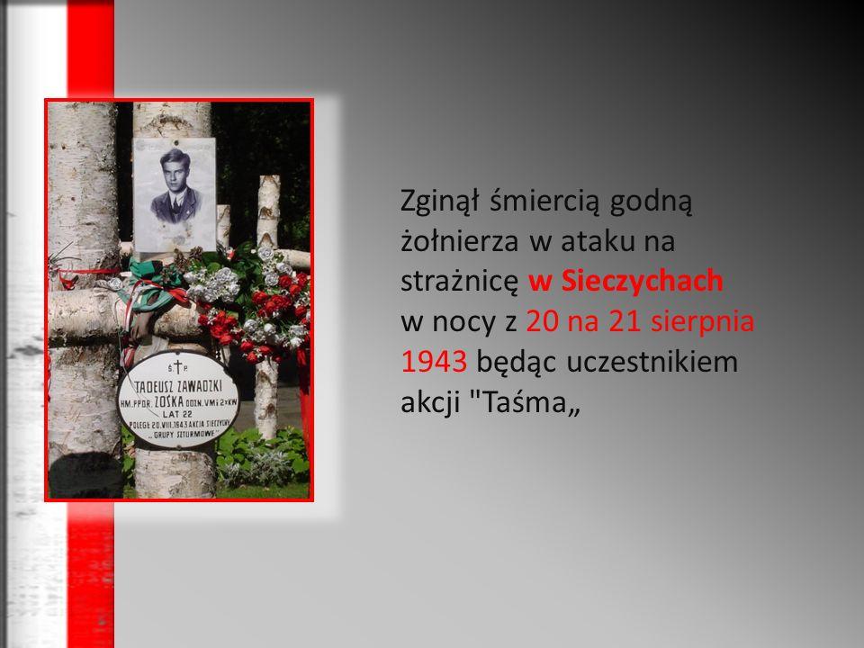 Odznaczenia Krzyżem Walecznych: po raz pierwszy: 3 kwietnia 1943 za Akcję pod Arsenałem po raz drugi: za akcję w Sieczychach (pośmiertnie - wrzesień 1943).