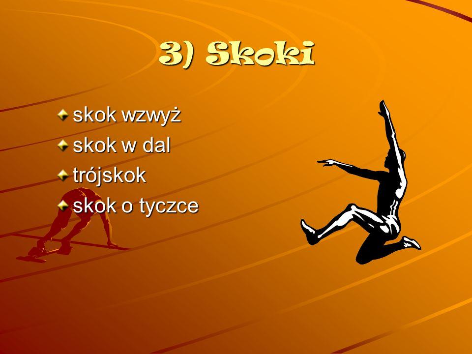 Skok wzwy ż Skok wzwyż – konkurencja lekkoatletyczna, polegająca na odbiciu się (po wykonaniu rozbiegu) z jednej nogi i przeniesieniu całego ciała ponad poprzeczką zawieszoną na pionowych stojakach.