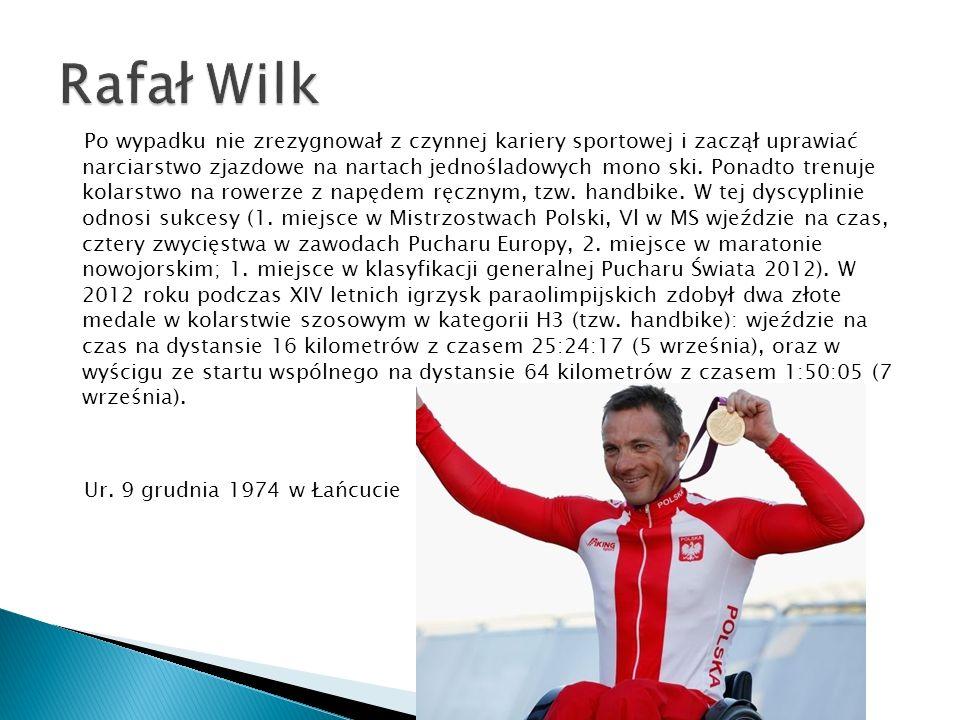 Po wypadku nie zrezygnował z czynnej kariery sportowej i zaczął uprawiać narciarstwo zjazdowe na nartach jednośladowych mono ski. Ponadto trenuje kola