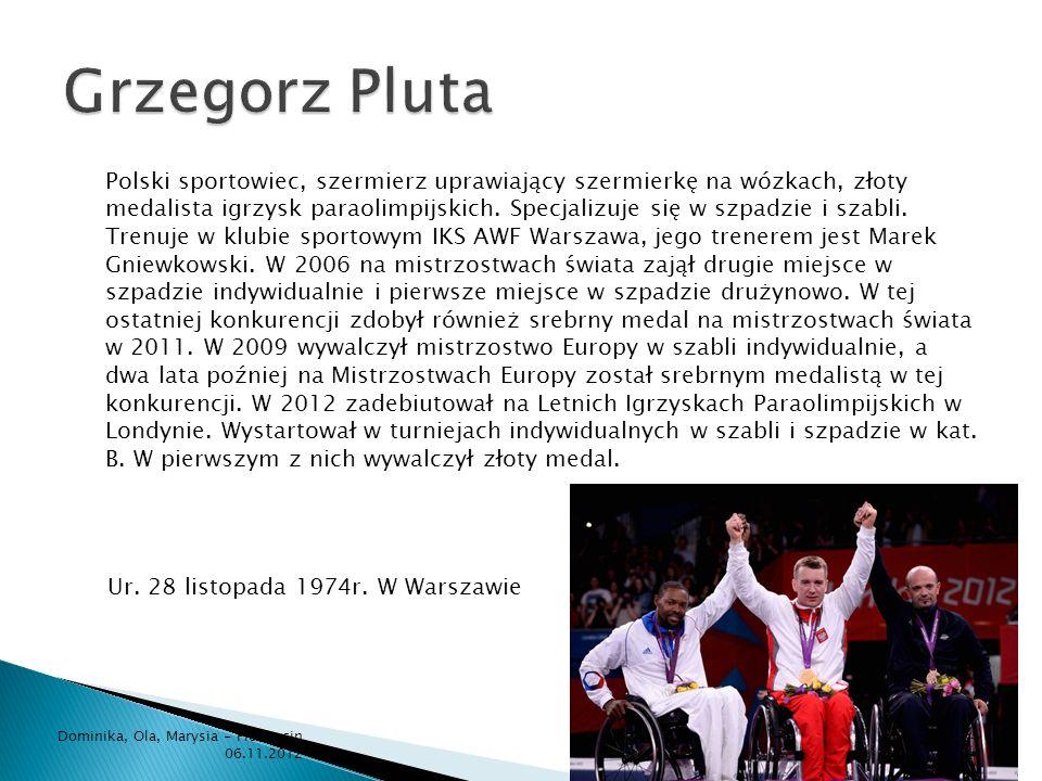 Polski sportowiec, szermierz uprawiający szermierkę na wózkach, złoty medalista igrzysk paraolimpijskich. Specjalizuje się w szpadzie i szabli. Trenuj