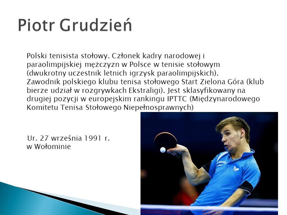 Polski tenisista stołowy. Członek kadry narodowej i paraolimpijskiej mężczyzn w Polsce w tenisie stołowym (dwukrotny uczestnik letnich igrzysk paraoli