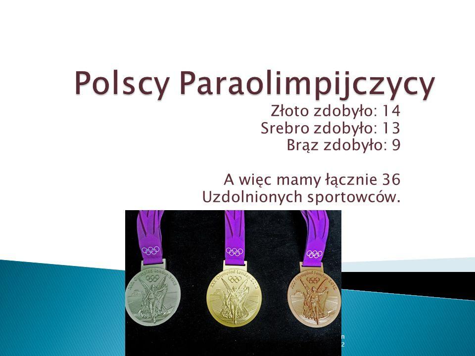 Złoto zdobyło: 14 Srebro zdobyło: 13 Brąz zdobyło: 9 A więc mamy łącznie 36 Uzdolnionych sportowców. Dominika, Ola, Marysia - Płochocin 06.11.2012