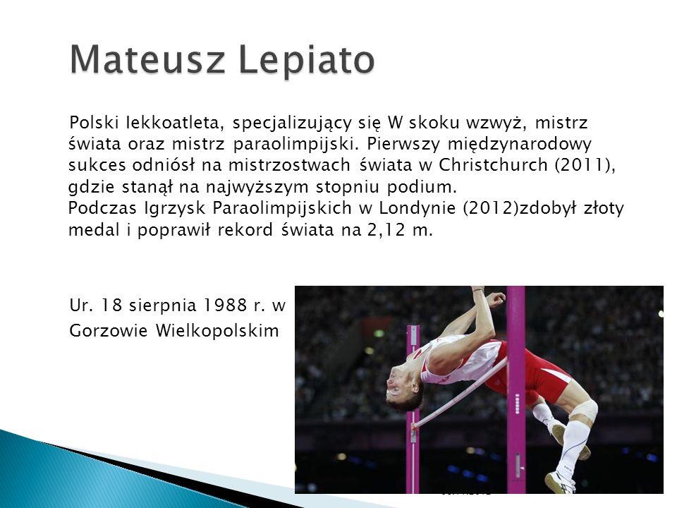 Polski Iekkoatleta, specjalizujący się W skoku wzwyż, mistrz świata oraz mistrz paraolimpijski. Pierwszy międzynarodowy sukces odniósł na mistrzostwac