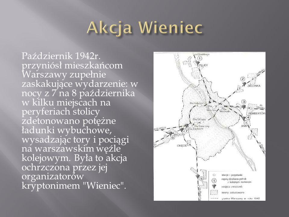 Październik 1942r. przyniósł mieszkańcom Warszawy zupełnie zaskakujące wydarzenie: w nocy z 7 na 8 października w kilku miejscach na peryferiach stoli