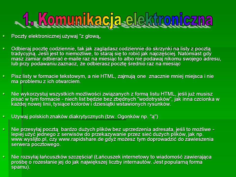 Poczty elektronicznej używaj